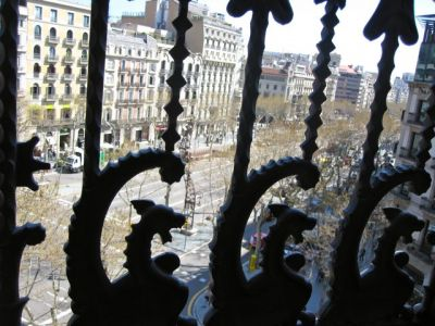Barcelona Condes Hotel Balcony View Dragons