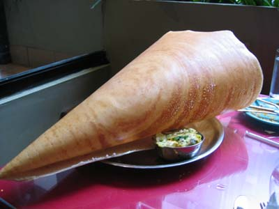 Crunchy dosa from Bangalore menu