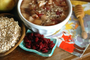 Minted Oats, Cranberry & Mint Spa Breakfast Bowl